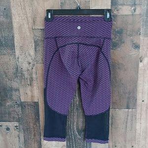 Lululemon Purple & Black Lululemon Crop Leggings